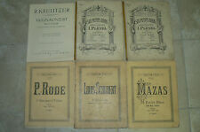 Lot de 6 partitions pour violon collection LITOLFF