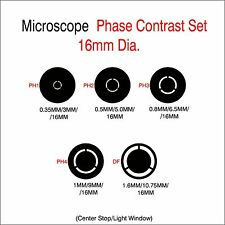 Microscope 16mm Dia. Phase Contrast Set
