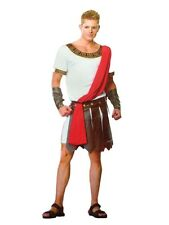 Men's Caesar Costume Roman Gladiator Spartacus Toga Fancy Dress Party