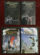 NEIL GAIMAN SIGNED - GRAVEYARD BOOK GRAPHIC NOVEL - Two Volumes, BOTH Signed!