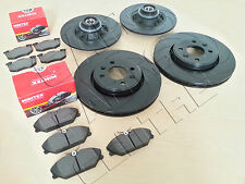 CLIO SPORT 172 182 FRONT REAR BLACK GROOVED PERFORMANCE BRAKE DISCS MINTEX PADS