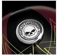 Harley sportster  willie g skull gas fuel tank cap cover medallion