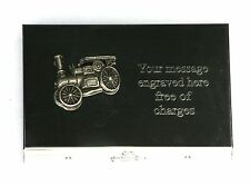 Steam Engine Emblem Card Holder with Built in calculator FREE ENGRAVING Gift