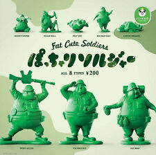 Takara Tomy Panda's ana Fat BBW Soldier P1 Little Green Army Completed Set 8pcs