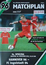 Programm 2015/16 Hannover 96 - FC Ingolstadt