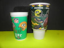 NFL  SUPER BOWL 31 GRENN BAY PACKERS VS. N.E. PATRIOTS 2 CUP HELMIT PACK.