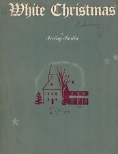 1942 White Christmas Sheet Music by Irving Berlin, Popular XMas Song Lyrics