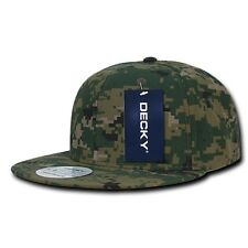 Woodland Forest Digital Camouflage Flat Bill Snapback MCU Camo Baseball Cap Hat