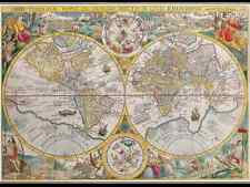 VINTAGE WORLD MAP 1594 POSTER 27x36 HI RES