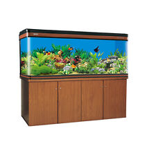 "72""  200 Gallon Fresh / Salt Water Aquarium Glass Front w/ Cabinet -FRAMELESS"