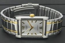 Casio MTP-1235SG-7A Men Gold Two Tone Stainless Steel Square Analog  MTP1235SG