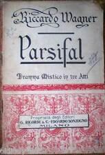 1913 libretto teatro-Giovanni Pozza-PARSIFAL-Riccardo Wagner-Ed.Ricordi/Sonzogno