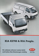 Kia K2700 + Pregio Prospekt 11/00 brochure Auto PKWs Korea Asien 2000 Broschüre