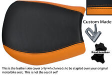 ORANGE & BLACK CUSTOM FITS TRIUMPH SPEED TRIPLE 955 i 97-01 FRONT SEAT COVER
