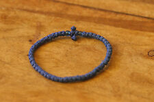 BLUE Hand Made Waxed Chotki Komboskoini Bracelet Christian Orthodox Prayer Rope