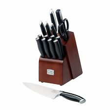 NEW Chicago Cutlery Belmont 16-Piece Block Knife Set Forged Stainless Steel