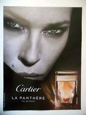 PUBLICITE-ADVERTISING :  CARTIER La Panthère  2016 Erin Wasson, Eau de Parfum