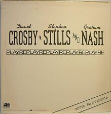 CROSBY, STILLS and NASH - REPLAY - LP Temporary Sleeve - Made in Italy MINT