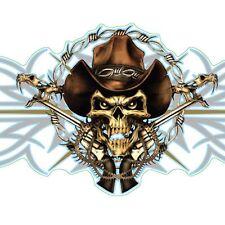 LETHAL THREAT Sticker/Aufkleber Cowboy Scull  Ideal für Motorrad,Auto,Helm