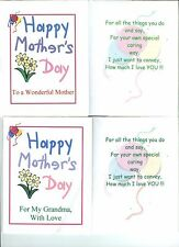 Greeting Cards~LOVE Asst-2 Each-4 Designs~Mother's&Father's Day~Mom,GMa,Dad,GPa