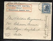 JAMAICA (PP1301B) 2 1/2D ON HOTEL ADVERTISING COVER TO USA