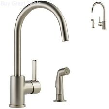 Delta Peerless Apex Single Handle Stainless ADA Kitchen Faucet With Spray New