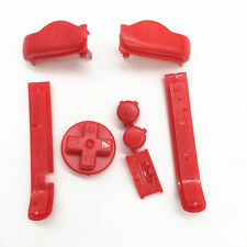 Nintendo Game Boy Advance BUTTONS SET Bumpers R L A B D-Pad RED (Lot of 5)