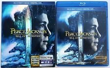 PERCY JACKSON: SEA OF MONSTERS BLU RAY DVD 2 DISC SET & SLIPCOVER FREE SHIPPING