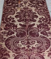 "Beautiful French Antique Mauve Frame 19thC Sik Brocatelle Fabric~1yd15""LX26""W"