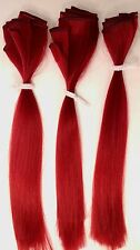 "x3 Daredevil Red Super Long 20"" Wig Weft Pieces Doll Hair American Girl Blythe"