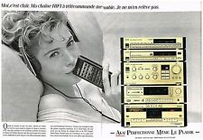 Publicité Advertising 1988 (2 pages) La Chaine Hi-Fi Akai