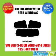 VW GOLF 3-DOOR 2009-2014 (MK6) 35% LIGHT REAR PRE CUT WINDOW TINT