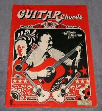 VINTAGE ~ MEL BAY'S GUITAR CHORDS ~ ILLUSTRATED PHOTO HAND DIAGRAMS PSYCHEDELIC