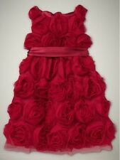 EUC Baby Gap Girl's Photo Op Line Red Rosette Tulle Sleeveless Dress 3T