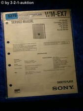 Sony Service Manual WM EX7 Cassette Player (#5279)