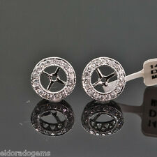 14K WHITE GOLD 0.58 ct. DIAMOND JACKETS & STUD MOUNT EARRINGS EACT 0.20-0.75 ct