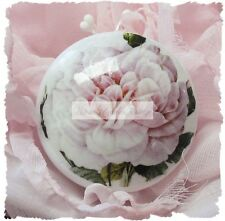 ROSES chic shabby drawer door Ceramic cabinet knob PINK pull kitchen office