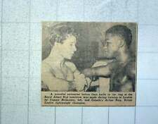 1949 Lightweight Boxers Tommy Mcgovern And Canada's Arthur King