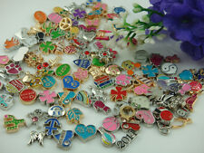 50PCS mix floating charm fit Origami owl glass memory locket accessories p3