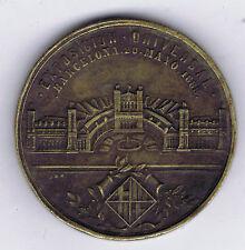 SPAIN BARCELONA (BARNA) WORLD'S FAIR 1888 MEDAL (NO RIBBON) with VENUE HALL USED