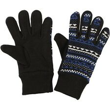 Puma Akutan acrylic knit black graphic womens wrist gloves 040965 01 Size Medium