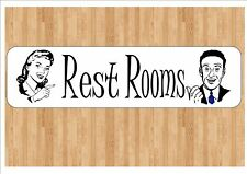 Rest Room Sign American Toilet Rest Room Sign Bathroom Sign Toilet Door Sign
