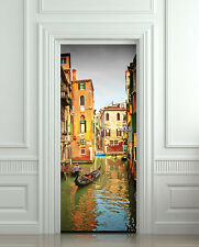 Door Wall or Fridge STICKER venice italy street city decole mural poster 30x79