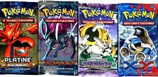 ① 4 BOOSTERS de CARTES POKEMON Neuf Aucun double en FRANCAIS (Lot N° AAU)