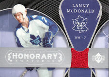 LANNY McDONALD 2007-08 UD TRILOGY HONORARY SWATCHES GAME USED JERSEY