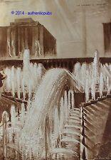 VIEUX PAPIER LES FONTAINES DU TROCADERO A PARIS SEPIA ANDRE MAIRE DE 1937 AD