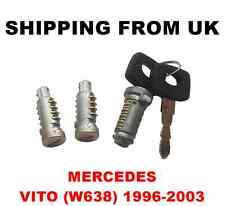 IGNITION SWITCH + 2 DOOR LOCK BARREL SET FRONT LEFT RIGHT REAR MERCEDES VITO