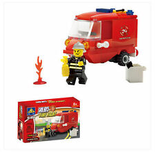 Building blocks Fire series 8058 Puzzle assembling toys fire tricycle