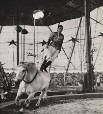 1940's Vintage 16x20 CIRCUS Horse Bareback Stunt Rider Equestrian Ringling Bros.