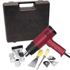 Heat Gun Kit 10 pcs 1500 Watt Dual Temperature (572°F/1112°F) Hot Air Gun Paint